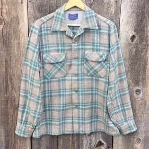 Pendleton 100% Wool Board Shirt Flannel sz M